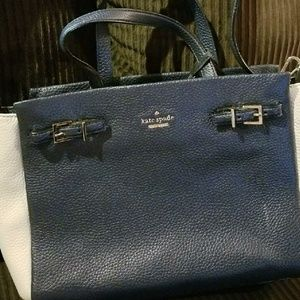 Kate Spade navy and cream purse